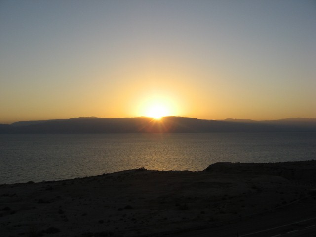 Sunrise on the Dead Sea
