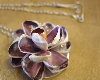 Sea Shell Flower Artisan Necklace