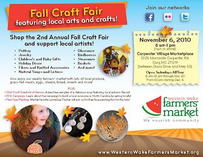Western Wake Farmer's Market Flyer