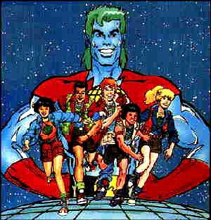 Captain Planet Cartoon Superhero
