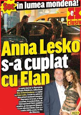 Anna Lesko se iubeste cu Elan Schwartzenberg