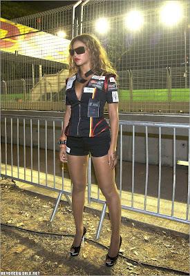 Beyonce - hot la F1