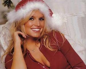 Jessica Simpson hot Santa