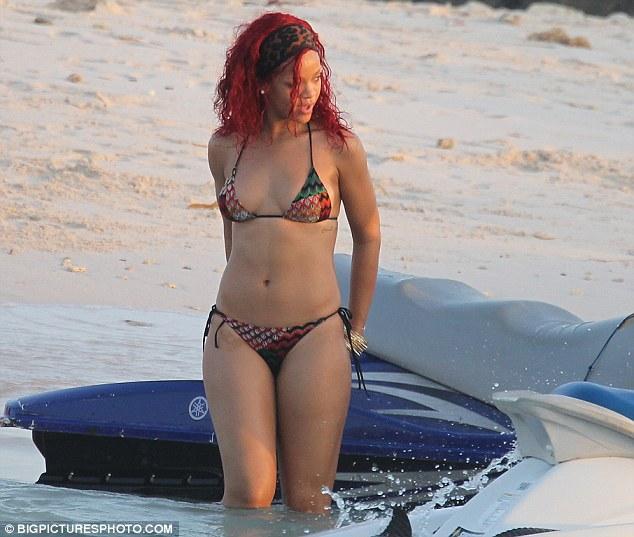 Rihanna Bikini Barbados Christmas