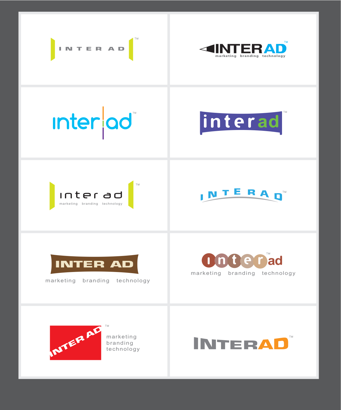 Creative design inter ad prototype logo designs for Inter designing
