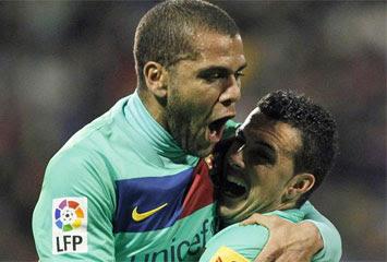 Dani Alves y Pedro