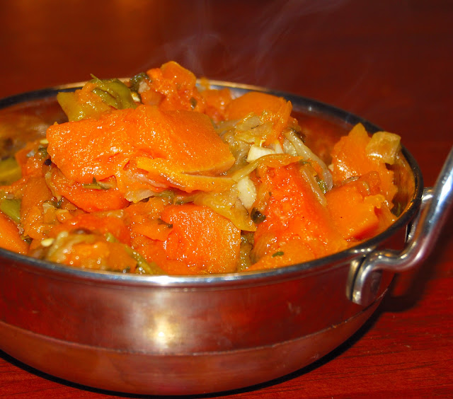 Pumpkin side-dish with Indian spices