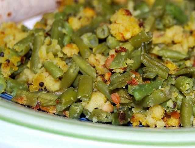 Beans Paruppu Usili, Tamil Recipe