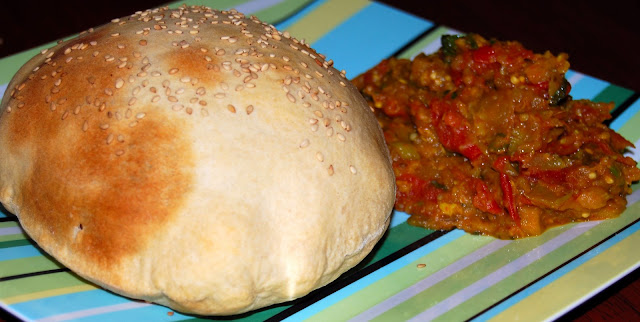 Whole-Wheat Naan and Baingan Bharta