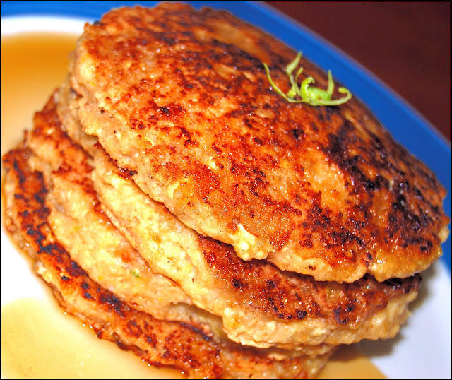Wholegrain vegan pancakes