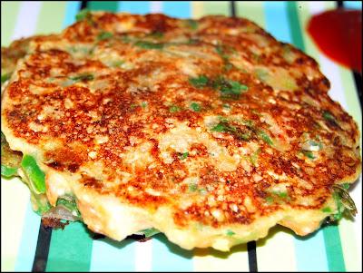 Savory vegan pancakes