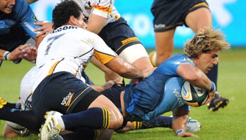 Wynand Olivier try - Bulls vs Brumbies