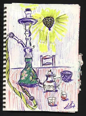 dibujo cachimba granada