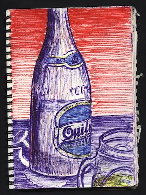 dibujo botella Cerveza quilmes argentina