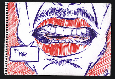 dibujo i'm big i'm muzzy