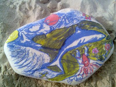 dibujo playa torimbia asturias