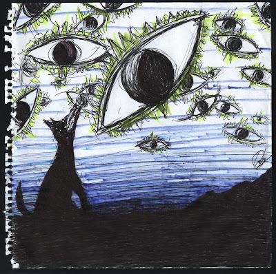 dibujo Lobo Politeista. Politeist Wolf drawing