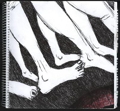 dibujo ciempatas. dibujo ciempies. dibujo pies