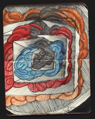 dibujo Catrioshkas, cabezas rusas, cerebros. Catrioshkas drawing