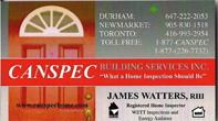 Canspec Building Services - James Watters Serving Durham Region, Newmarket & Toronto, GTA Area