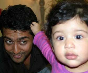 tamil actor surya playing with child