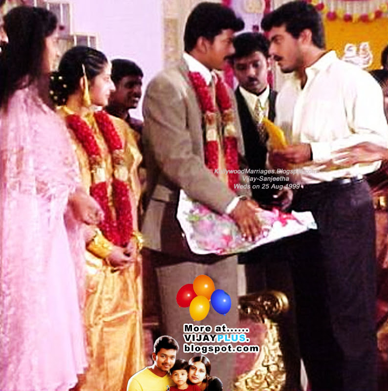 VIJAY SANGEETHA MARRIAGE AJITH SHALINI ATTENDING