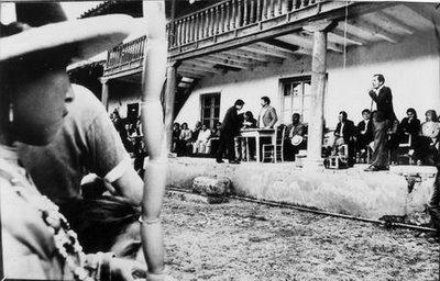 La hacienda de Angasmarca intervenida por la Reforma Agraria - año 1970.