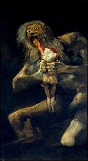 Saturno devorando a su hijo, Goya