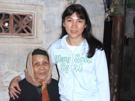 with my grandmother