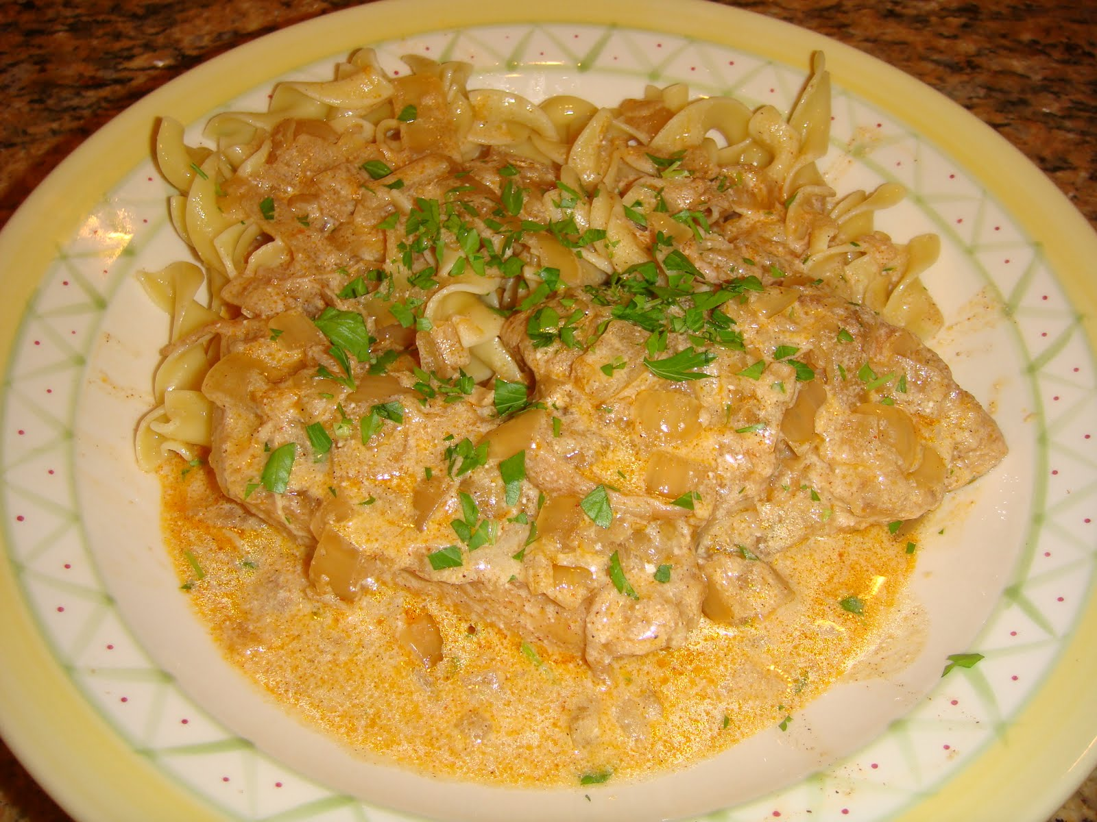 Our Blissfully Delicious Life: Chicken Paprikash