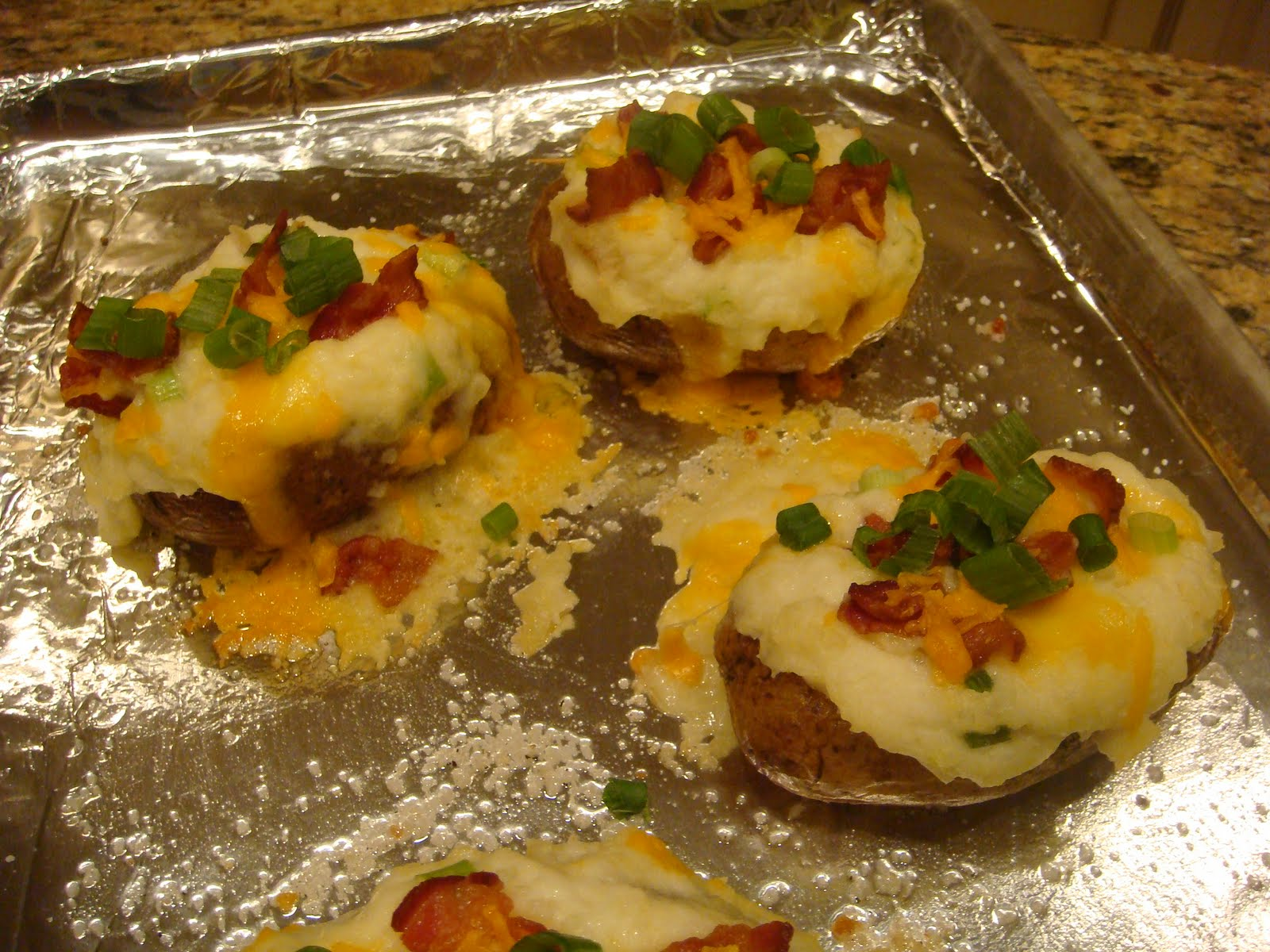 Our Blissfully Delicious Life: Twice Baked & Over Stuffed Potatoes