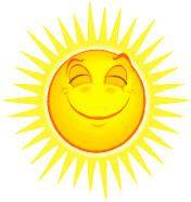 Sol; ljus, värme. Livsnödvändig för fotosyntes och produktion. Glädjespridare.