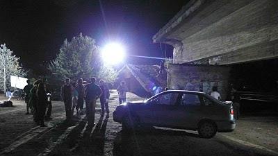 foto rodaje exterior noche