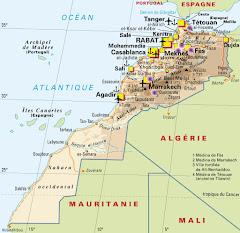 carte géographique du Maroc