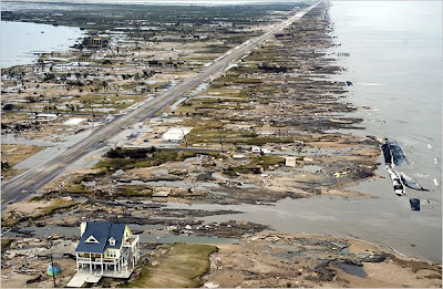 Gilchrist, Texas on the Bolivar Peninsula after Hurricane Ike