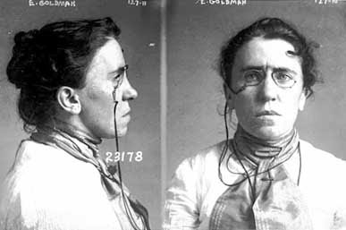 Emma Goldman mug shot 1901 Chicago