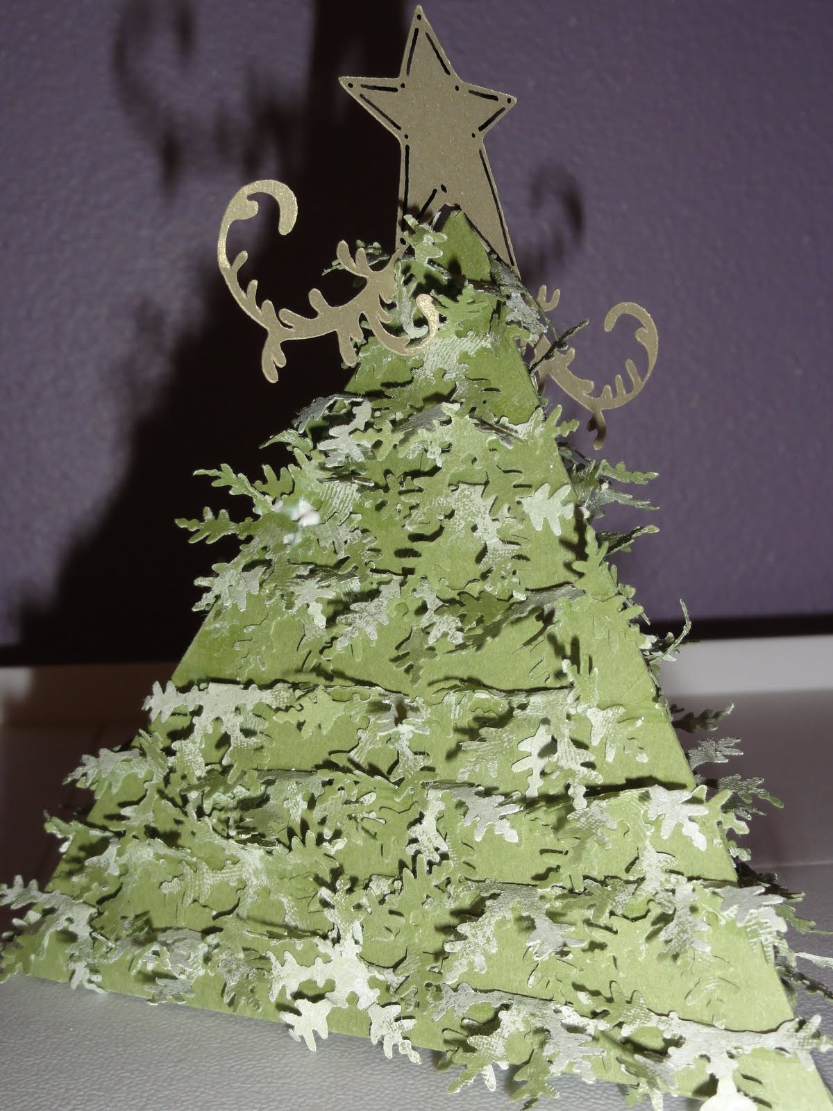 3d Christmas Tree Cut Out I cut out the triangle box