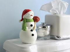 Talking bathroom snowman