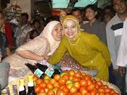 Pasar Kalianda, Lampung Selatan, Marissa Haque Kampanye untuk Ikang Fawzi, Pilkada Lamsel 2010