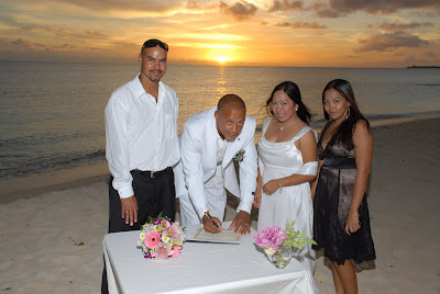Locals Sunset Wedding at Marriott Courtyard Beach - image 6