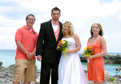 Cruisers enjoy this Smith's Cove, Grand Cayman Beach Wedding - image 5