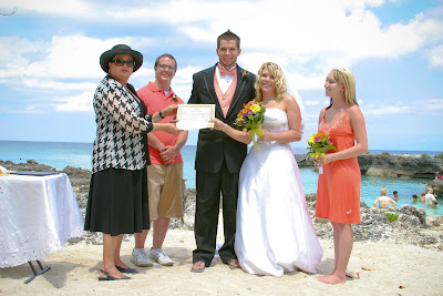 Cruisers enjoy this Smith's Cove, Grand Cayman Beach Wedding - image 3
