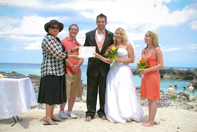 Cruisers enjoy this Smith's Cove, Grand Cayman Beach Wedding - image 3