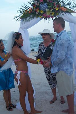 Bikini Bride at Grand Cayman Beach Wedding - image 5
