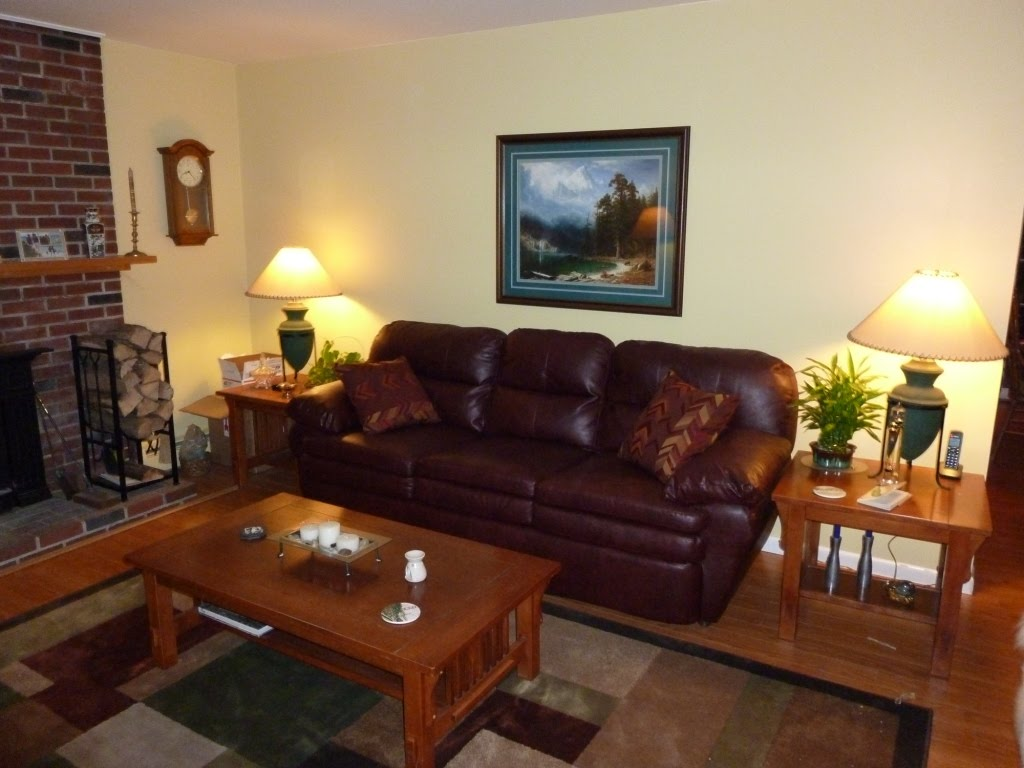 , yet blended with our new area rug and Lee's re- upholstered chair title=