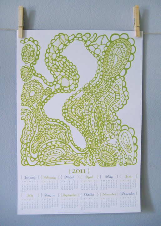 2011 wall calendar large format paper squid