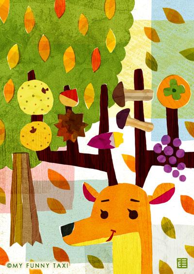 食欲の秋のイラスト Autumn illustration