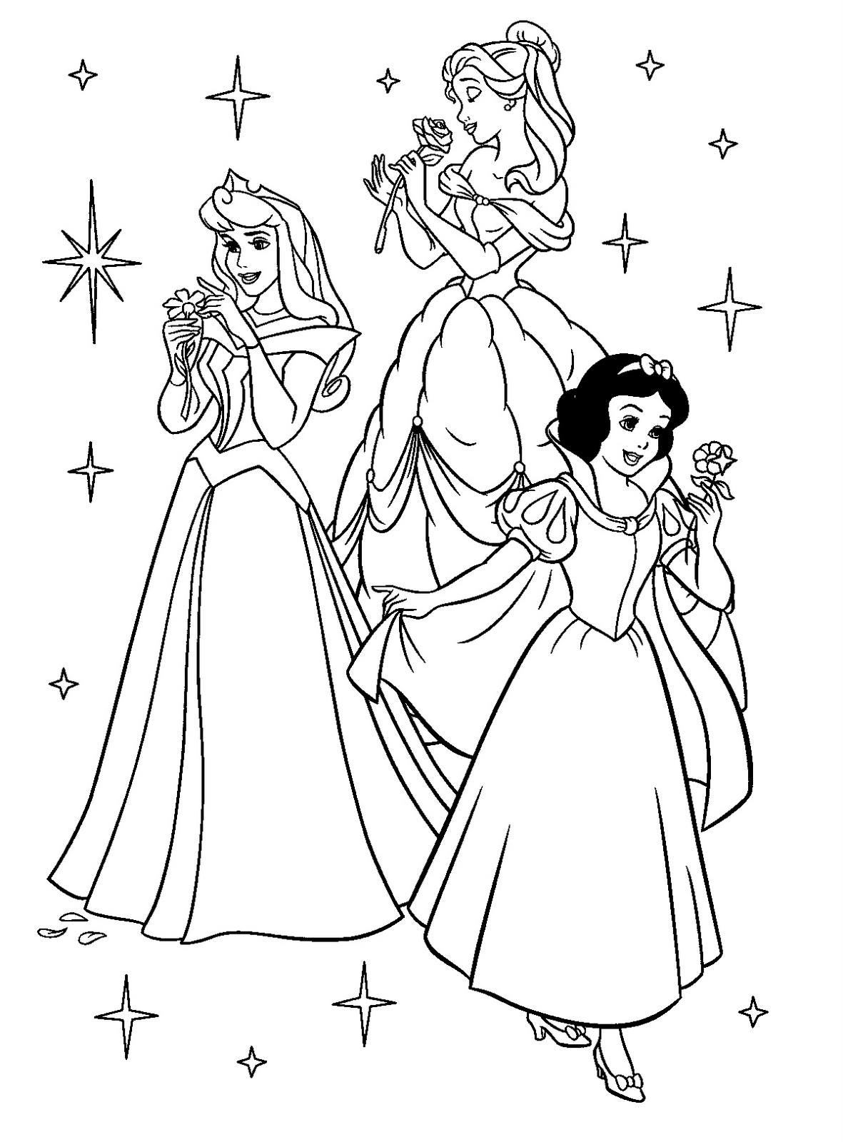 Disney Princess Coloring Pages on Palace Pets Clip Art