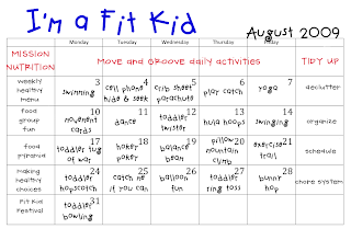 Fitness Worksheets For Kids - Delibertad
