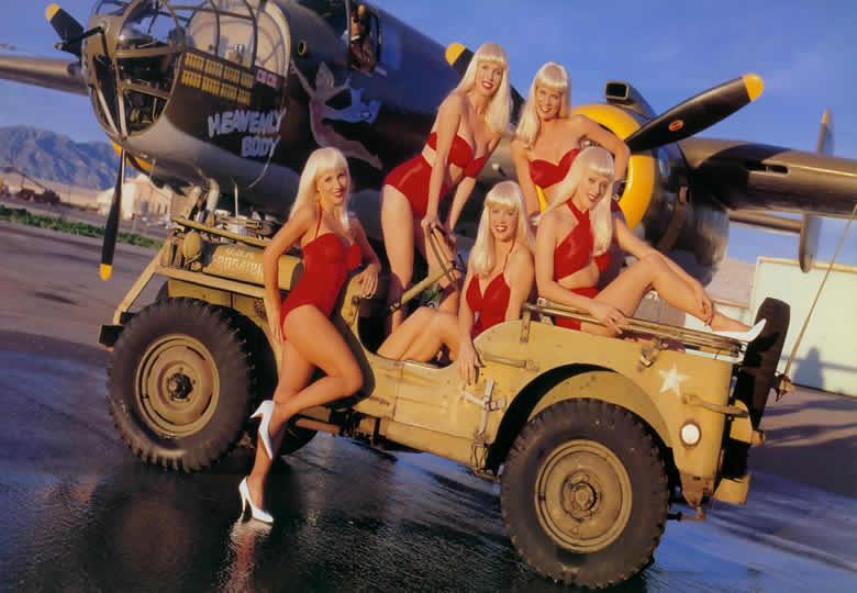 S4 TantalizingTakeoffs031 NorthAmerican B 25 TheSwedishBikiniTeam Swedish Bikini Team